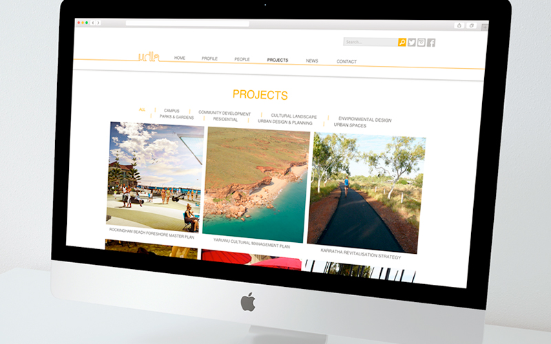 Website projects page