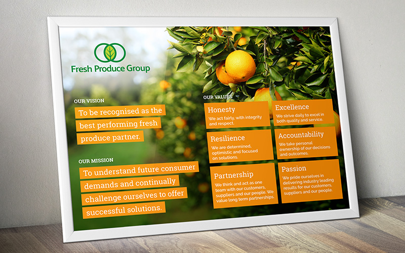 Fresh Produce Group's vision poster
