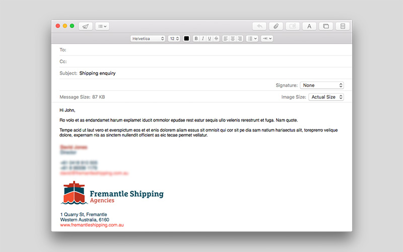 Fremantle Shipping Agencies email signature
