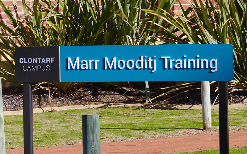 ILC Clontarf Campus location sign