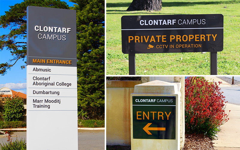 ILC Clontarf Campus entrance signs
