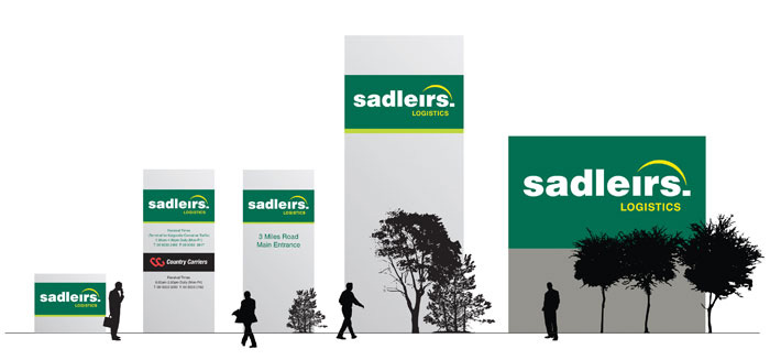 Sadleirs external signage design concepts