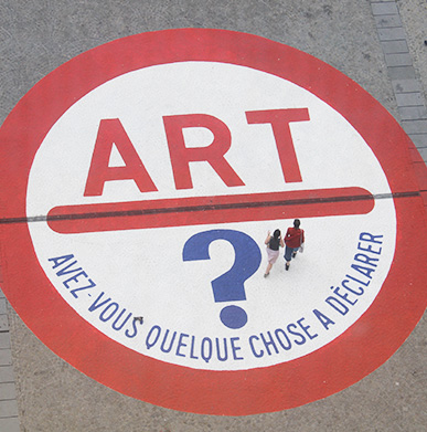 France pavement decals