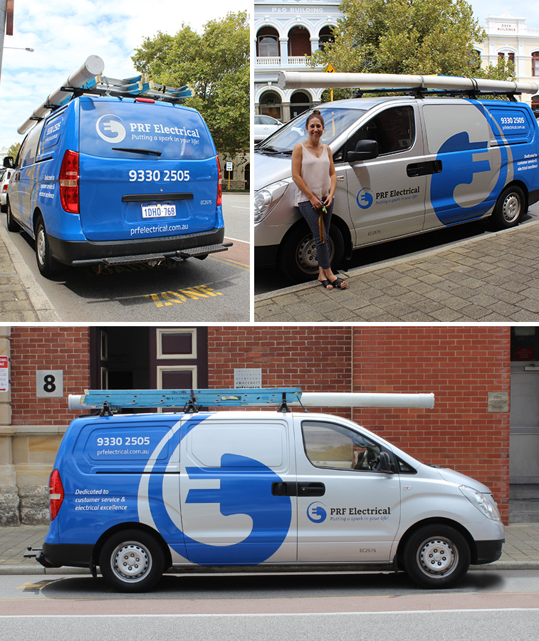 PRF Electrical Vehicle branding